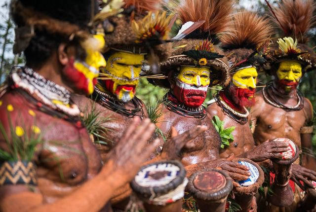 The Bright Faces of the Huli People of Papua New Guinea
