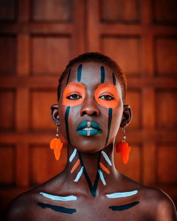 African Tribal Body Painting