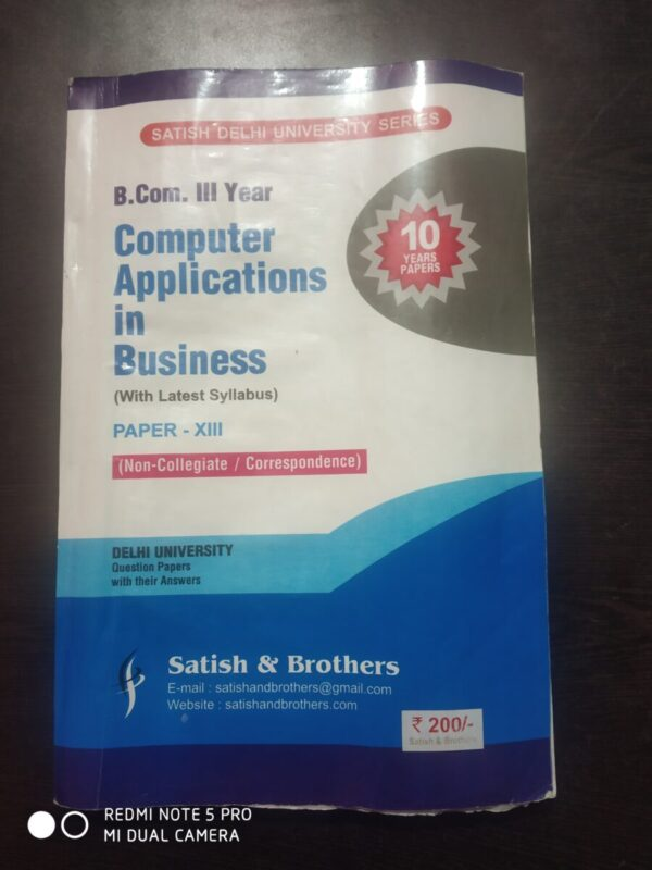 Computer application in business ten year
