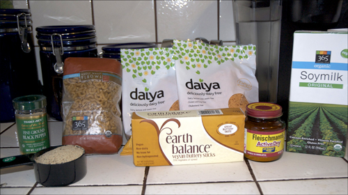 vegan Mac & Cheese ingredients