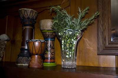 herbs on the mantel