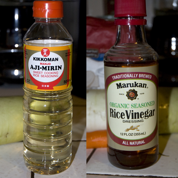 Mirin and Rice Vinegar