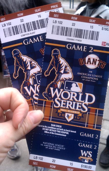 World Series Tickets Game 2