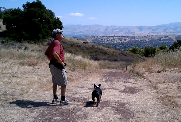 Pops & Bubba on a hike