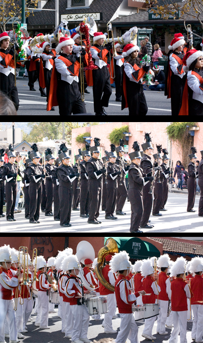 marching bands in parade