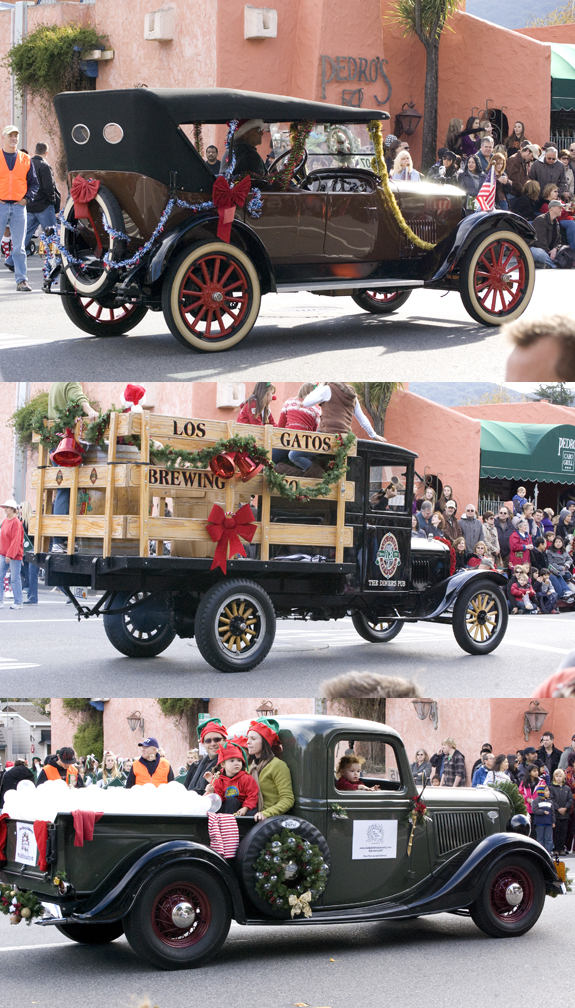 old cars in parade