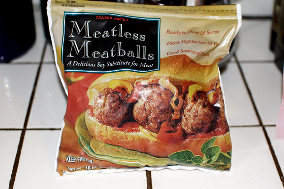 Trader Joes meatless Meatballs