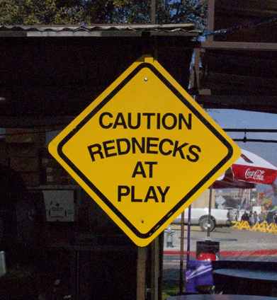 Rednecks at Play sign