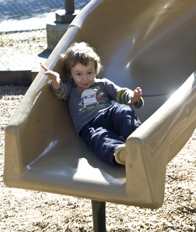Westly on slide