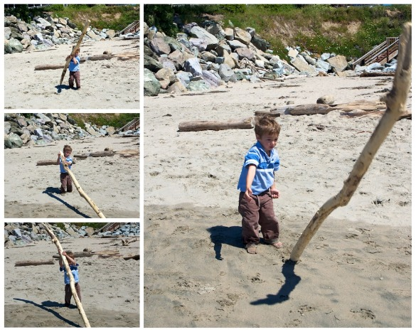 Westly flipping a stick