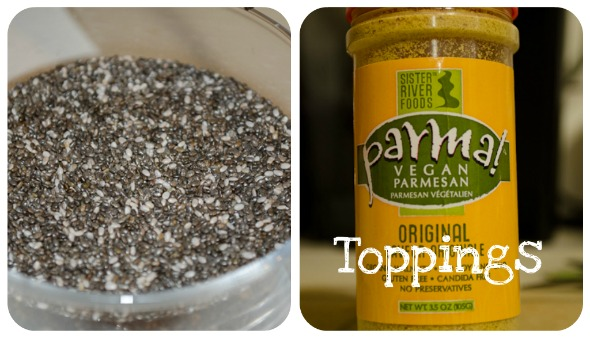 Vegan Parmesan and Chia Seeds