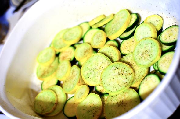 layered squash and zucchini