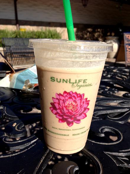 vegan shake from Sun Life Organics
