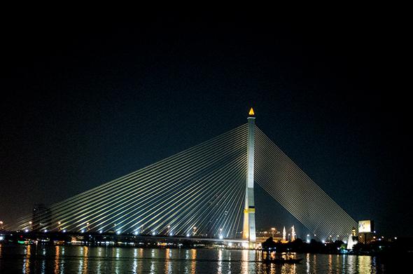 diagonal lines Bangkok Bridge