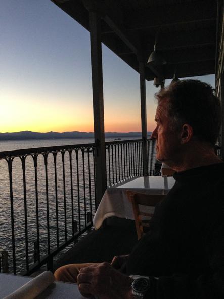 Drinks on Lake Tahoe