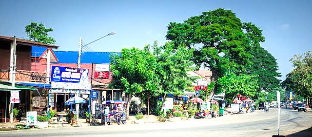 roadside market in Thailand