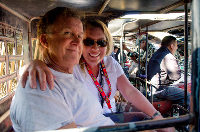 jim and jen on a tuk tuk