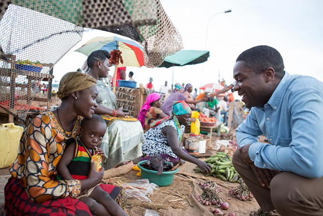 selling in the market of Katwe