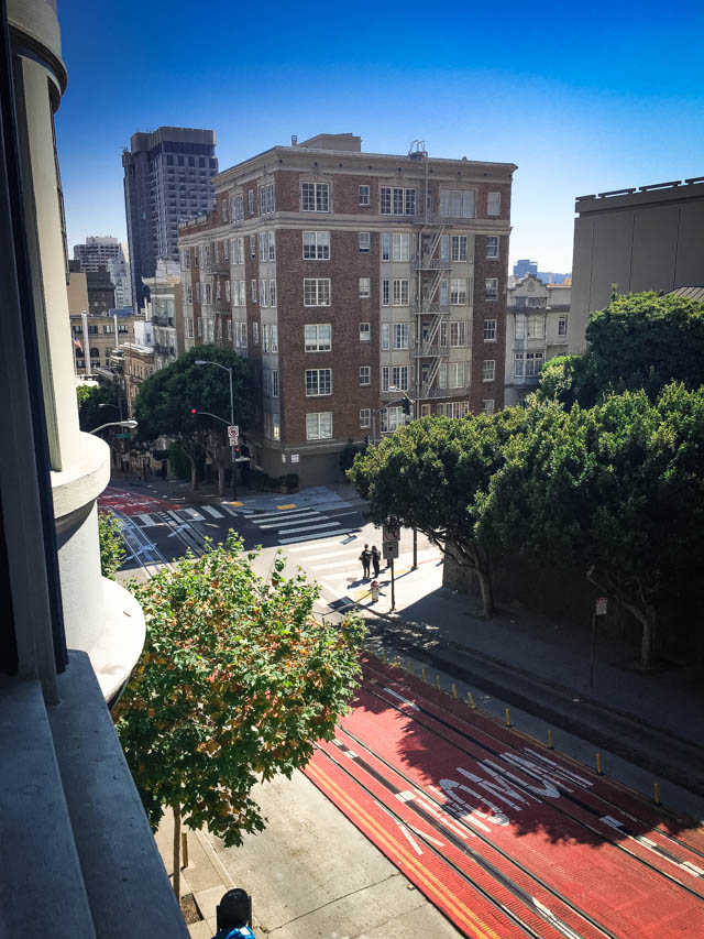 view along Powell St