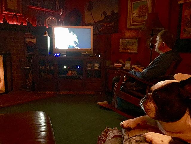 home watching tv