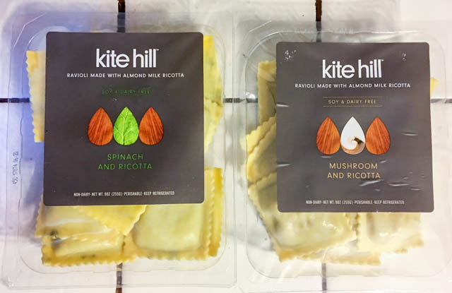 Kite Hill vegan ravioli