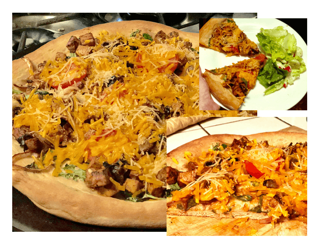 Vegan Cowboy pizza