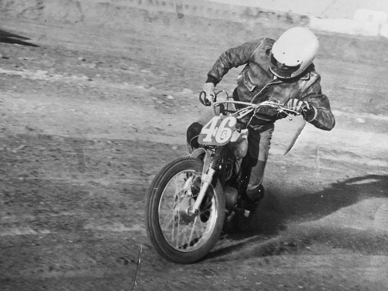 Jim's motorcycle racing days