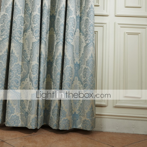 Two Panels Curtain Neoclassical  Floral  Botanical