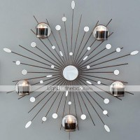 Metal Wall Art Wall Decor,The Sun Mirror Candlestick Wall ...