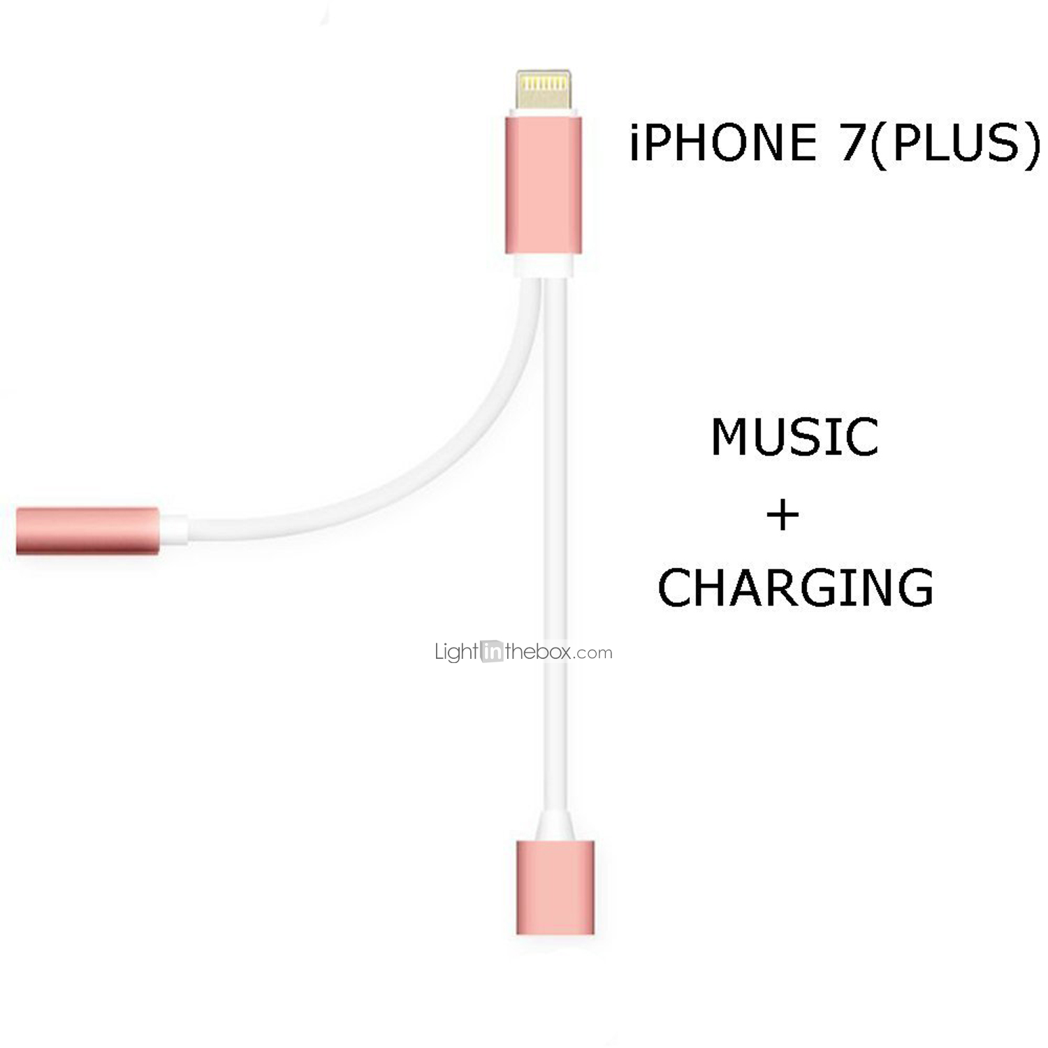 New 2 In 1 Headphone Audio Jack Adapter Cable For Iphone 7