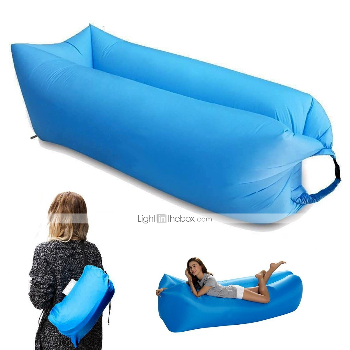 inflatable outdoor sofa chair black spandex covers for sale waterproof air sleep portable