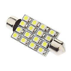 Araba Okuma lambası için eş 41mm 1.5W 16xSMD3528 Beyaz Işık LED Ampul (12V)