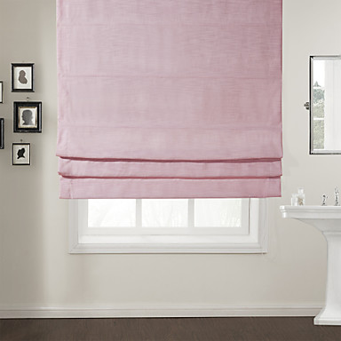 TWOPAGES Modern Pink Solid Roman Shade 835052 2016  5849