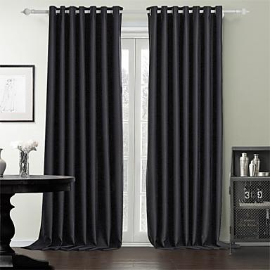 twee panelen moderne stevige zwarte slaapkamer polyester