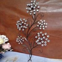 Metal Wall Art Wall Decor,Crystal Flower Decor 1839180 ...