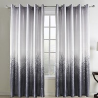 Two Panels Curtain Country Living Room Polyester Material ...