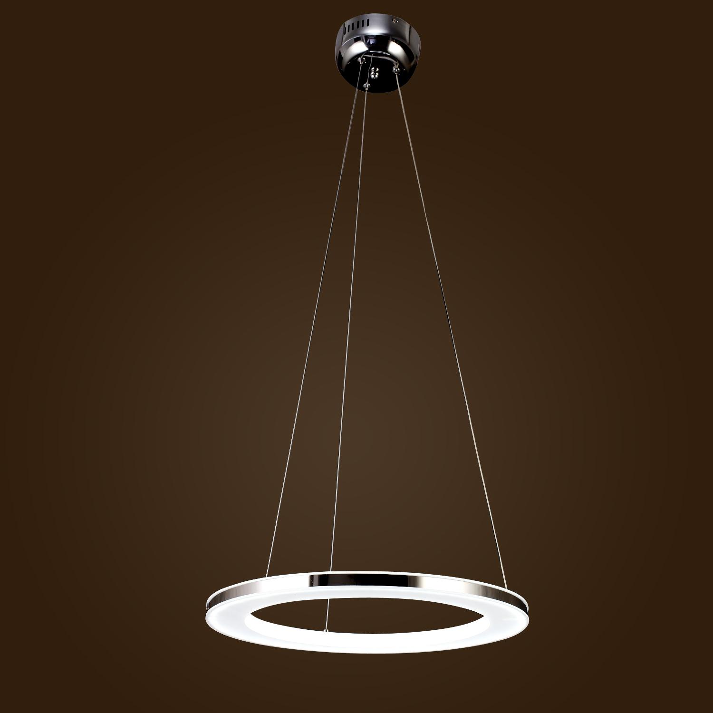 406080CM Modern LED Acrylic Round Pendant Chandelier