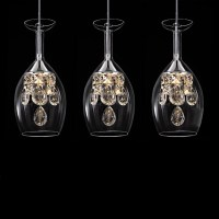Island Crystal LED Pendant Lights Glass Ceiling Fixture