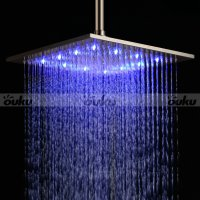 Stainless Steel Shower Head with 3 Color Changing LED
