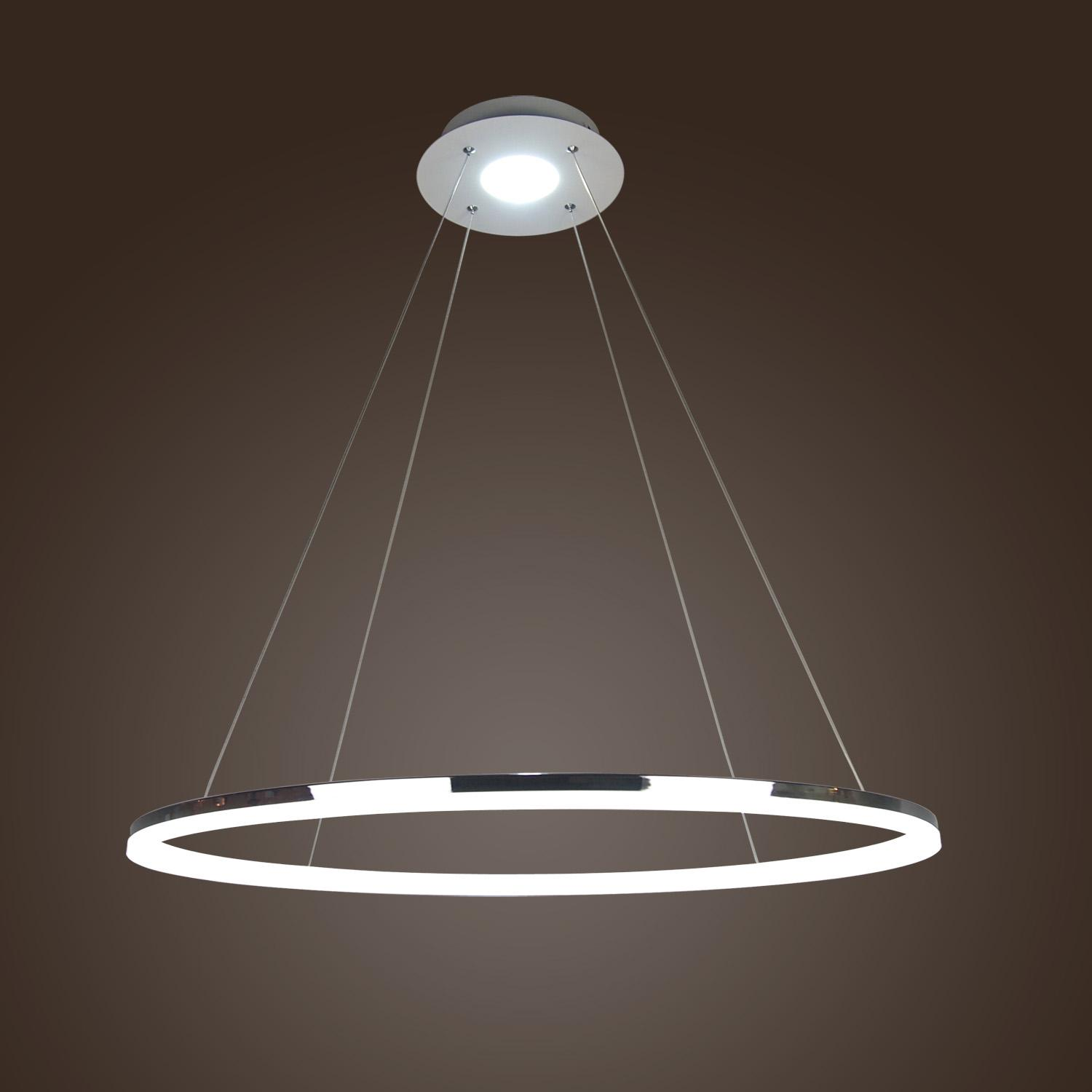 Modern 1 Ring Acrylic Pendant Light Round Ceiling Lamp LED