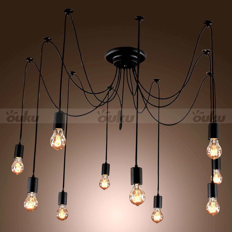 10 Lights bulbs Edison Chandelier Ceiling Light Pendant
