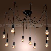 10 Lights bulbs Edison Chandelier Ceiling Light Pendant