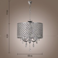 Modern New Drum Crystal Chandelier With 4 Lights Light for ...