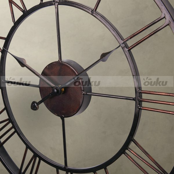 Large Iron Wall Clock