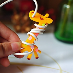 $Giraffe καουτσούκ κουρδιστήρι μπομπίνα (Random Color)