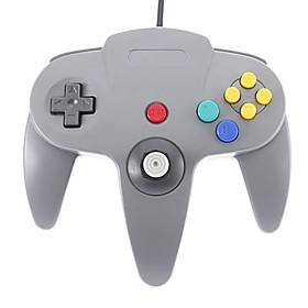 $Wired Joystick βίντεο ελεγκτή παιχνιδιών για το Nintendo 64 (Μαύρο)