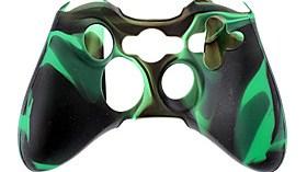 $Ασύρματο χειριστήριο θήκη σιλικόνης για Xbox360 (Πράσινο)