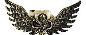 $Gothic Κρανίο με φτερά Unisex Χάλκινο Κράμα Δαχτυλίδια Δήλωση (1 τεμ)