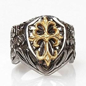 $zamp;X μόδα κοράκι καρδιά σταυρό δαχτυλίδι τιτανίου χάλυβα ανδρών