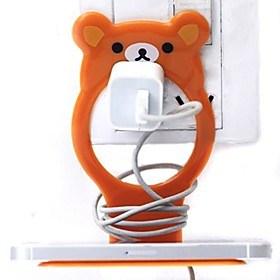 $μικρό αρκουδάκι σε σχήμα πλαστική υποδοχή φόρτισης κινητού τηλεφώνου (τυχαία χρώμα) x 1 τεμ